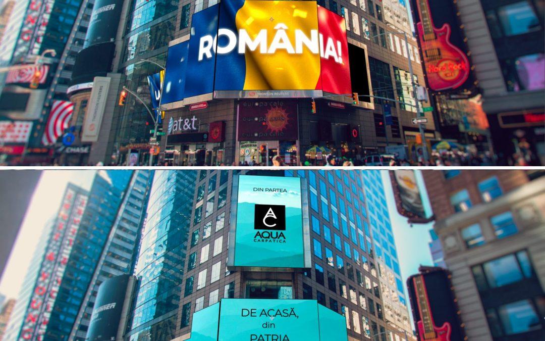 """AQUA Carpatica a urat """"La Mulți Ani!"""" României din Times Square, New York City"""