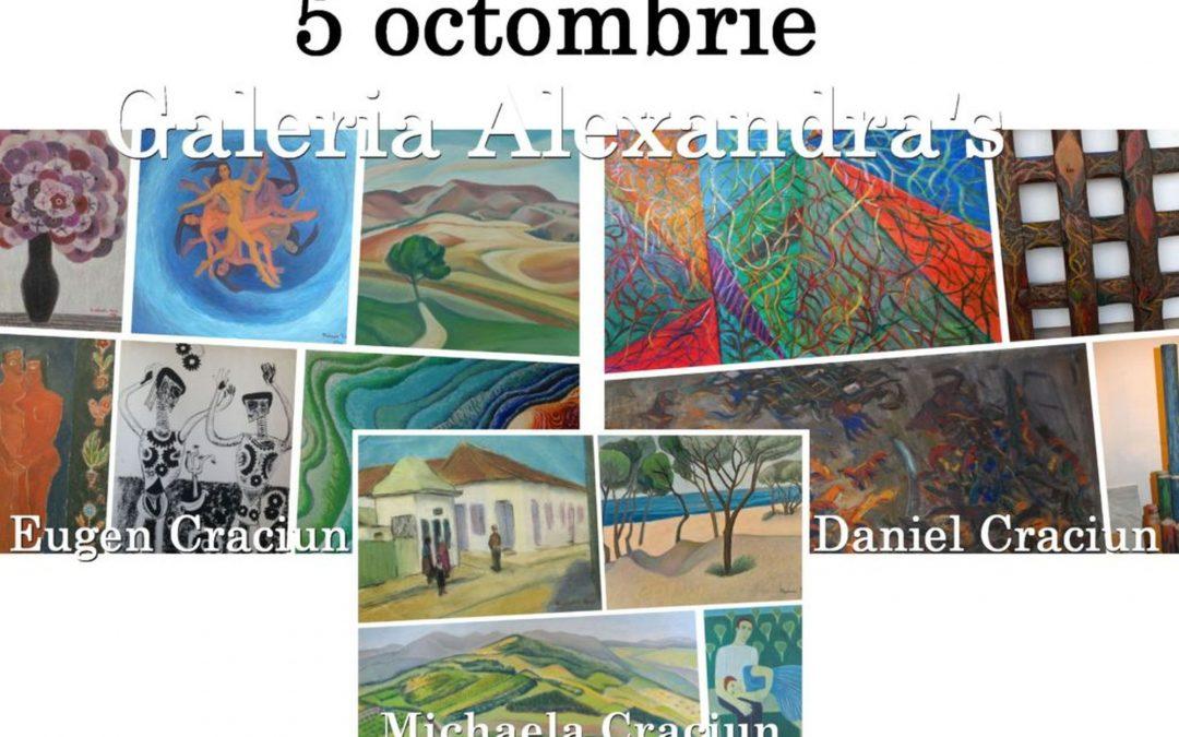 Expozitie Daniel, Michaela si Eugen Craciun, pe 5 octombrie, la Galeria Alexandra's