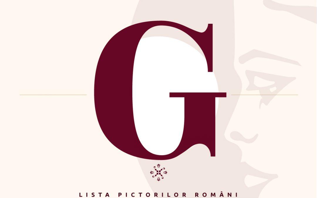 Lista pictorilor români – semnături pictori – litera G